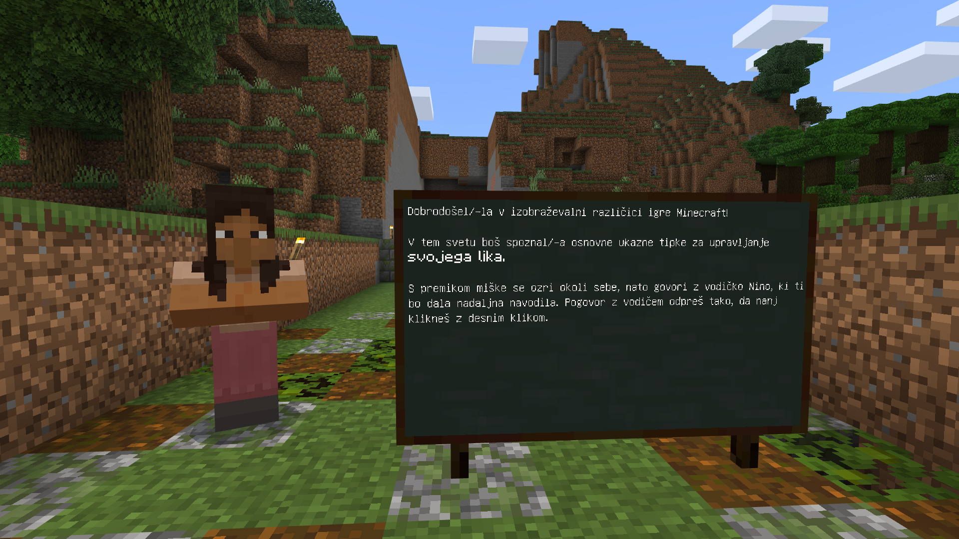 Uvod v Minecraft: Education Edition
